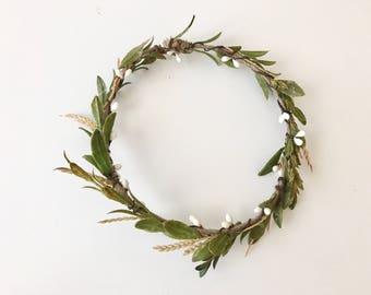 Wheat lower crown- flower crown- greenery crown