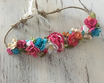Tropical Flower Crown or Headband