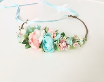 Flower crown- Baby Flower Crown- Flower girl Crown