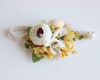 SunFlower crown, floral crown,  well dressed wolf flower crown, bridal crown