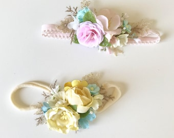 Flower crown- Baby Flower crown- Floral crown- Flower Girl