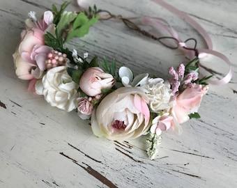 Pink Maddie Flower crown