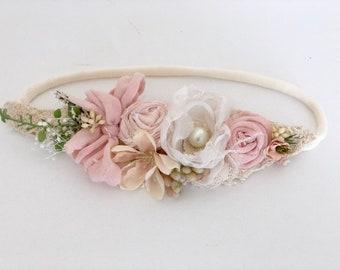 baby flower crown- Girls headband- Newborn Headband- Baby Girl Headband- Baby Flower Crown- gify