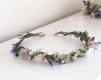 Flower girl Crown- Floral Crown- Baby Flower Crown- Bridal Flower Crown- Flower Crowns-  Newborn