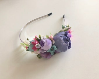 Flower crown, floral crown- f- flower girl crown, bridal crown