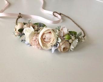 Pink Ivory Kate Flower Crown