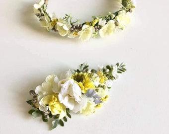 Flower Crown   Baby Flower Crown   Yellow Flower Crown