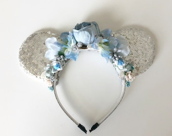Princess Mouse ears- Well Dressed Wolf Duchess- Mouse Ear Flower Crown