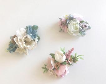 Floral clips, hair clip, flower hair clips, no slip clip