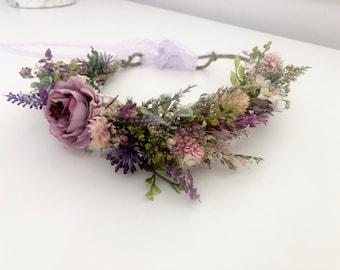 Dried Flower Crown- Floral Crown- Baby Flower Crown- Wedding Flower Crown- Mommy and Me