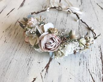 Natural Nudes Flower Crown