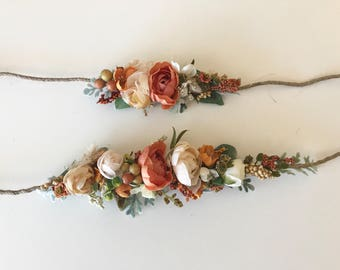 Fall Flower Crown- Floral Crown- Baby Flower Crown- Wedding Flower Crown- - Flower Crowns- Flower Girl Flower Crown