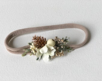 Dainty pinecone headband