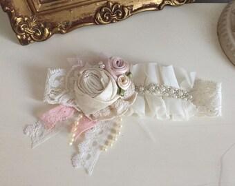 Baby Headbands- Baptism Headband- Newborn Headband- Flower Girl Headband- Ivory Headband -Boho Headband-Flower Girl Headband