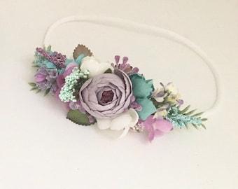 Flower crown- baby Flower crown- Well dressed wolf- Mermaid headband- Flower Girl headband- floral halo