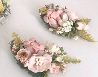 Flower hair clip- Kids hair clip- Baby hair clip- no slip clip- flower hair piece