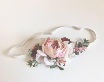 Wine blush Flower crown, floral crown- Wedding crown