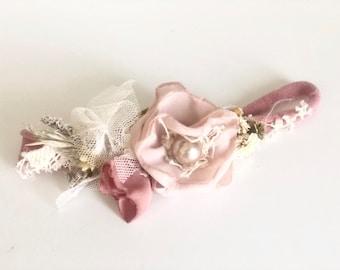 Mauve baby flower crown- Baby Girl headbands-  Girls headband
