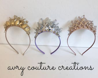 Fancy Princess crown headband- Crown Headband- Gold Crown- Crown- Birthday Headband- well dressed wolf