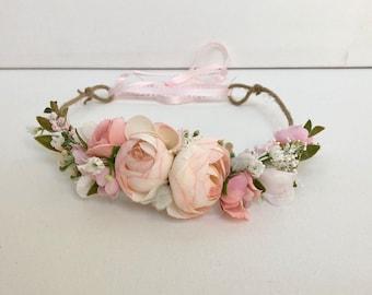 Flower Crown- Wedding Flower Crown- Floral Crown- Baby Flower Crown- Well Dressed Wolf