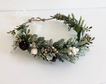 Frosted Flower Crown