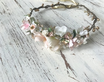Flower Crown- Floral Crown- Baby Flower Crown- Wedding  Flower Crown- Avry Couture- Flower Crowns- Flower Girl Flower Crown- Newborn