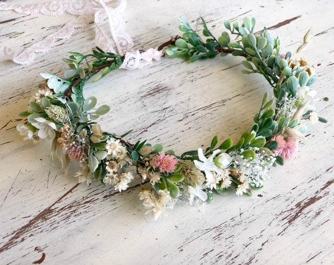 Featured listing image: Flower Crown- Floral Crown- Wedding Flower Crown- Baby Flower Crown- Girls flower Crown