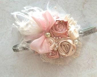 Baby Girl Headband- Baby Headband-Dollcake Headband-  Flower Girl Headband- 1st Birthday headband- Newborn Headbands