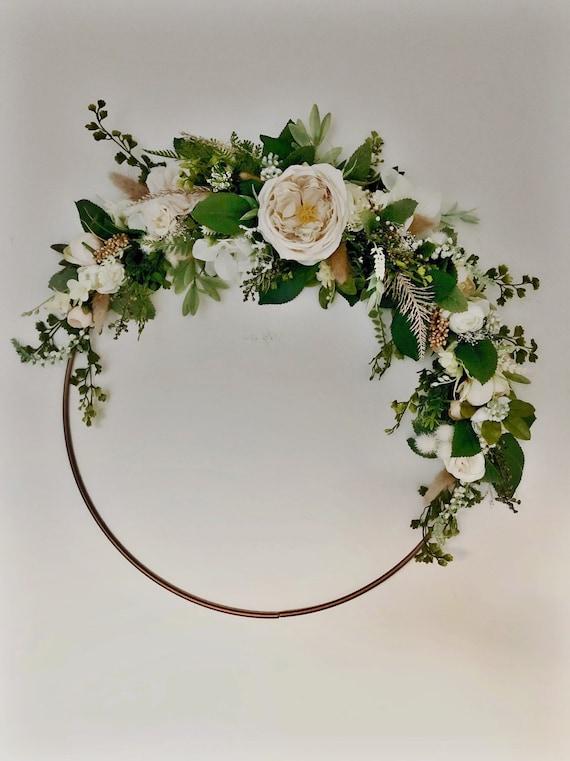 Natural hoop wreath