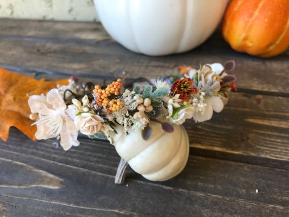 Wild orchards- flower crown- Well Dressed Wolf flower crown- bridal crown- flower girl crown