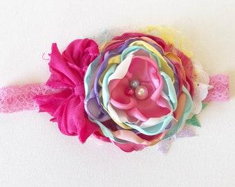 Summer rainbow headband- made to match omijo