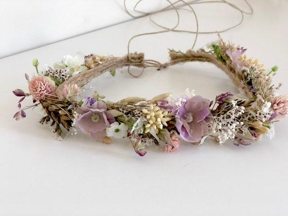 Dried natural Flower Crown- Floral Crown- Baby Flower Crown- Bridal Flower Crown- Flower Crowns- Flower Girl Flower Crown- Newborn