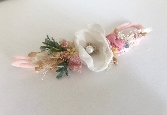 Ready to ship- Baby girl headbands- Girls headband- baby flower crown headband