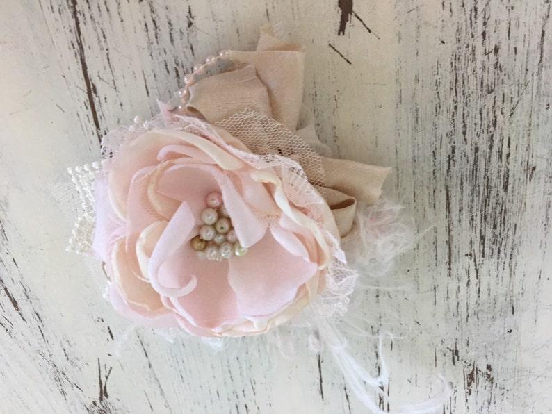 Wedding Hair Piece Bridal Hair Clip Hair Clip Hair Flower Hair Accessories Flower Girl Clip Pink Flower Hair Clip Baptism Hair Clip