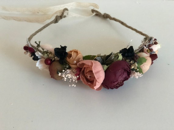 Flower Crown- Floral Crown- Baby Flower Crown
