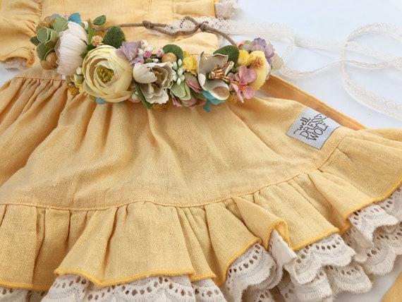 Buttercup Flower Crown- Yellow Flower Crown-  Well Dressed Wolf- Floral Crown- Flower Girl Crown- Bridal Crown- Photo Prop