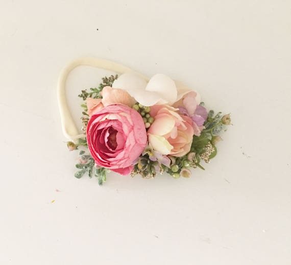Baby Flower Crown- Baby girl headbands- Flower crown- Floral crown- Flower Girl-   -
