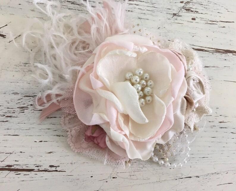 Hair Accessories mauve Hair Clip Hair Flower Bridal Hair Clip Wedding Hair Piece Baptism Hair Clip Flower Hair Clip Flower Girl Clip