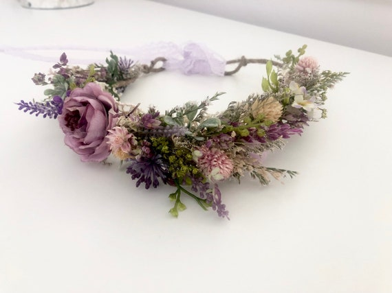 Dried Flower Crown- Floral Crown- Baby Flower Crown- Bridal Flower Crown- Flower Crowns- Flower Girl Flower Crown- NewbornMommy and Me halos