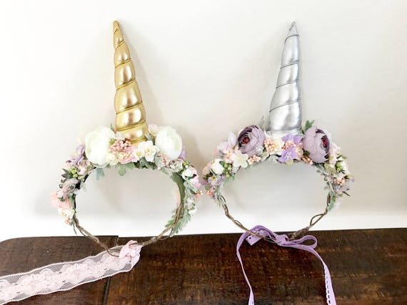 Unicorn flower crown