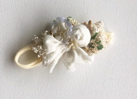 Dainty Lavender beige floral headband