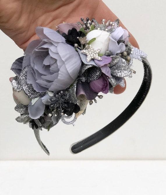 Starry Night Flower Crown Headband