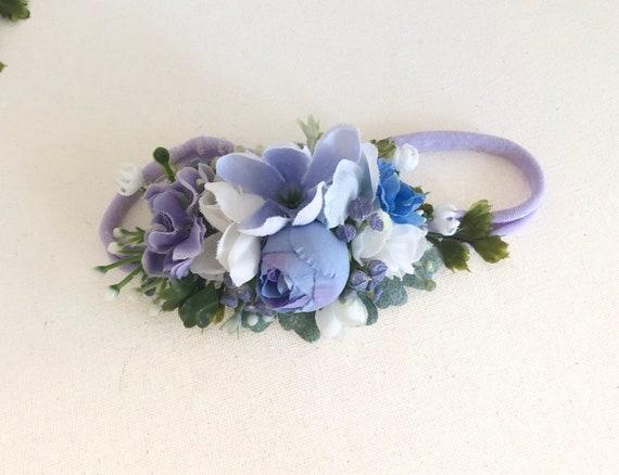 Baby flower crown- Flower crown- Baby girl headband-baby Flower Crown- omijo Headbands-