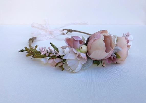 Flower Crown- Floral Crown- Baby Flower Crown Flower Girl Flower Crown