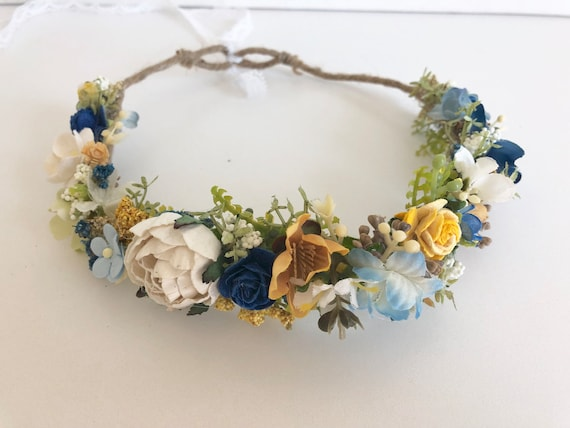 flower crown-  flower girl crown- Sunflower flower crown - baby flower crown