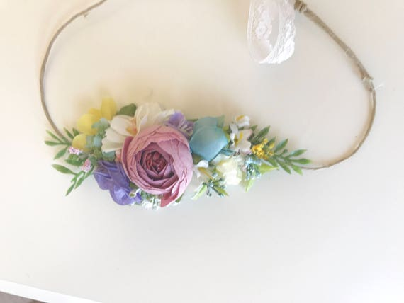 flower crown-baby Flower crown- Floral crown- Flower Girl headband