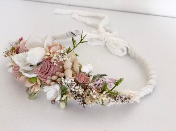 Blush ivory Flower Crown- Floral Crown- Baby Flower Crown- Bridal Flower Crown- Flower Crowns- Flower Girl Flower Crown- Newborn