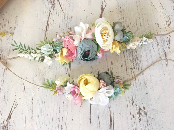 Flower crown- Baby Flower crown- Mommy and Me Flower crown- Bridal Crown- Flower Girl-