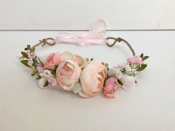 Flower Crown- Floral Crown- Baby Flower Crown- Bridal Flower Crown- - Flower Crowns- Flower Girl Flower Crown- Newborn