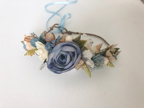 Flower crown- BeachFlower crown- Well dressed wolf- Floral crown- Bridal Crown- Flower Girl-   -
